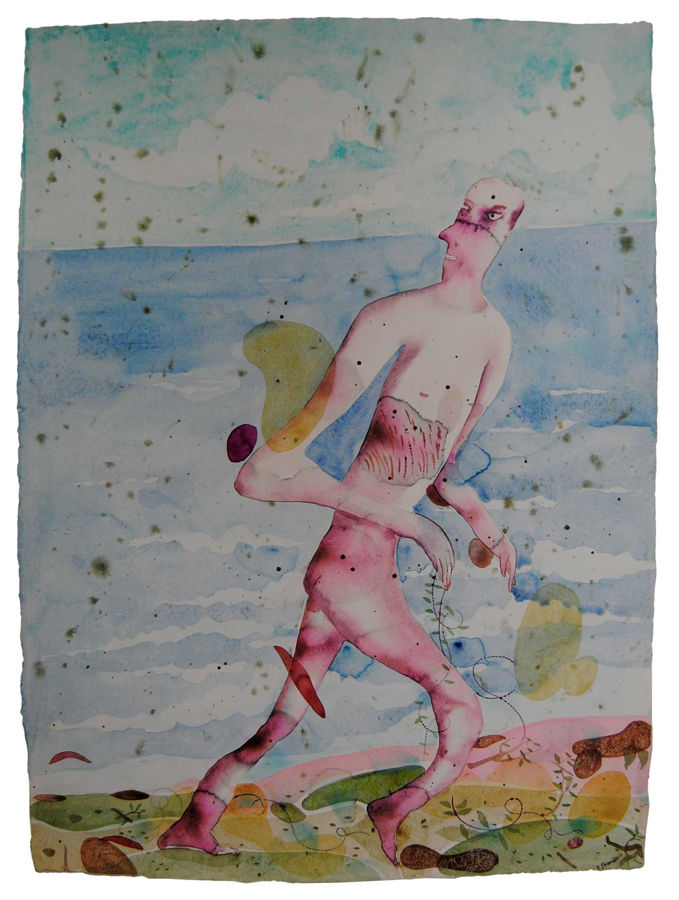 2015-serendipity-beach-water-color-on-paper-56x76cm